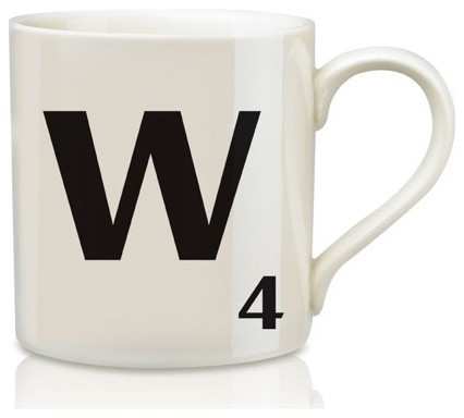 Scrabble Mugs - W eclectic dinnerware