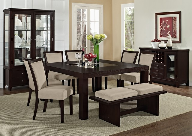 Karmon stone dining room collection asian dining for Oriental dining table