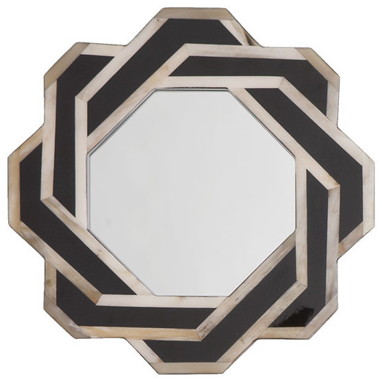 Octagonal Horn Mirror eclectic mirrors