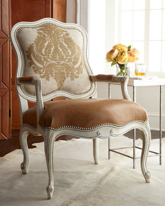 "Massoud ""Toasted Bisque"" Chair traditional-living-room-chairs"