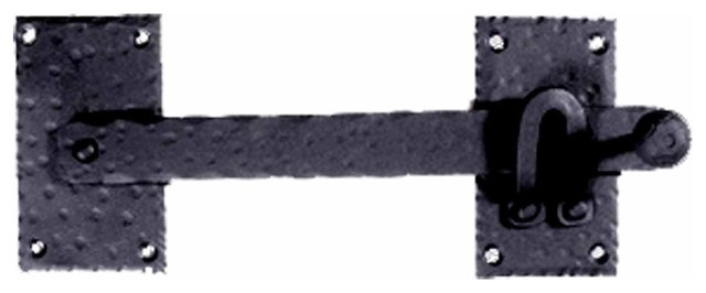 Gate Latches Black Wrought Iron Gate Lift Latch 12'' W | 15906 - Rustic - Home Improvement - by ...