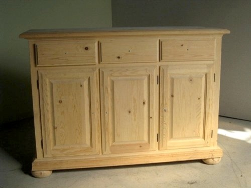 Unfinished 3 Door Pine Sideboard - Traditional - Buffets And Sideboards - boston - by ...
