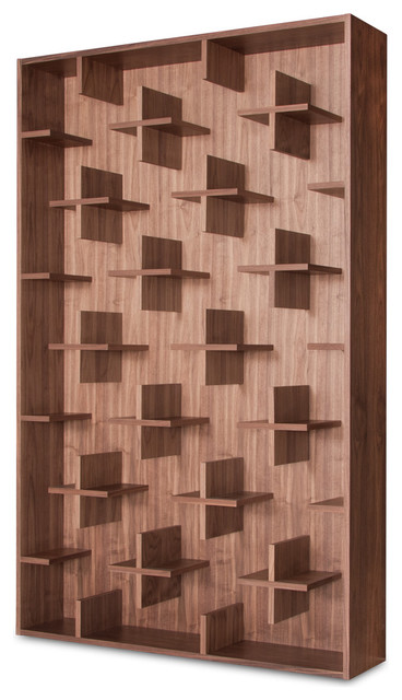 Cross Walnut Shelves contemporary wall shelves