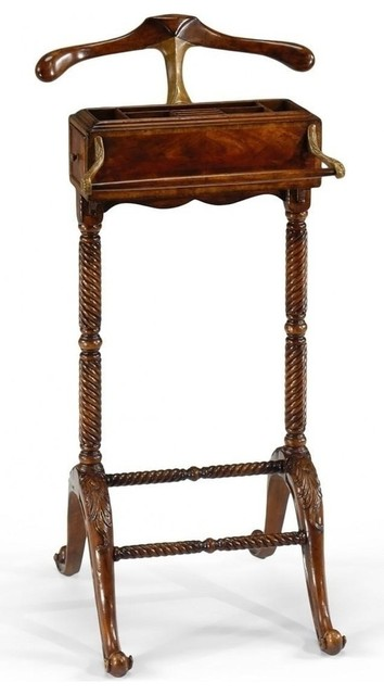 New Jonathan Charles Valet Stand Mahogany traditional-clothing-valets-and-suit-stands