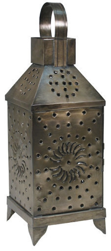 Mexican Punched-Tin Lantern - Rustic - Candleholders - by Indeed Decor