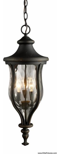 Elk Lighting 42254/3 3 Light Outdoor Lantern Grand Aisle Collection traditional-outdoor-lighting
