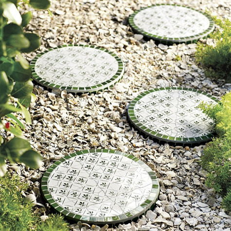 Mosaic Stepping Stones Traditional Tile By Ballard