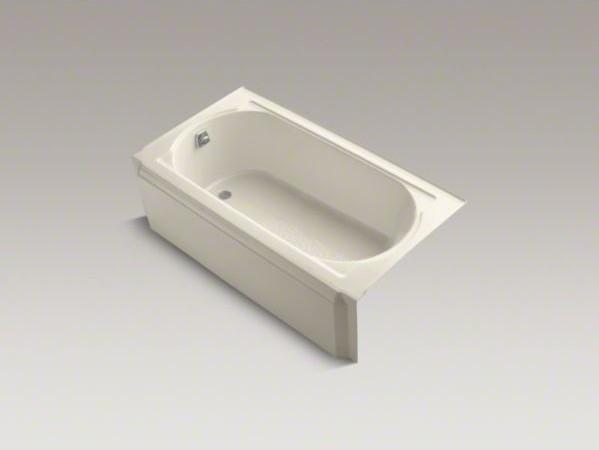 "KOHLER Memoirs(R) 60"" x 34"" alcove bath with left-hand drain contemporary-molding-and-trim"