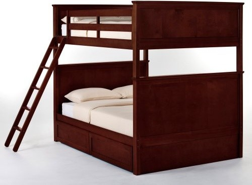 Schoolhouse Casey Full over Full Bunk Bed - Cherry traditional kids beds