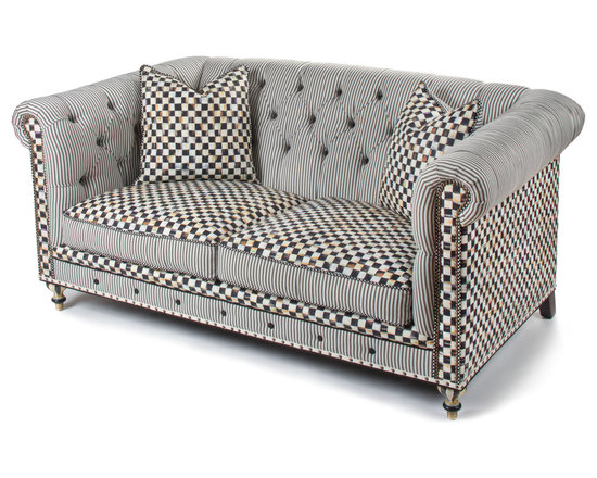Courtly Check Underpinnings Chesterfield - 72"