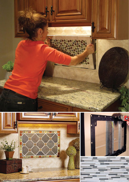 Kitchen Palette Interchangeable Backsplash tile