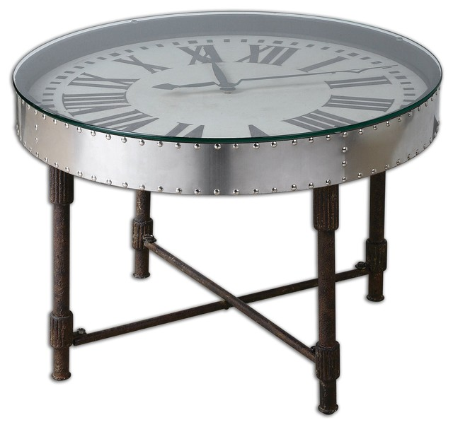 Eclectic Coffee Tables: Uttermost Cassem Clock Table