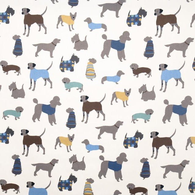Doggy Days Fabric eclectic-upholstery-fabric