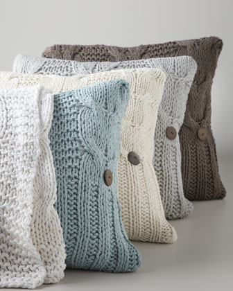 "Amity Home Cable-Knit Pillow, 20""Sq. traditional-decorative-pillows"