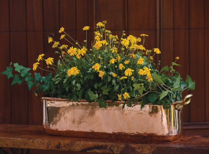 Copper Planter traditional-outdoor-planters