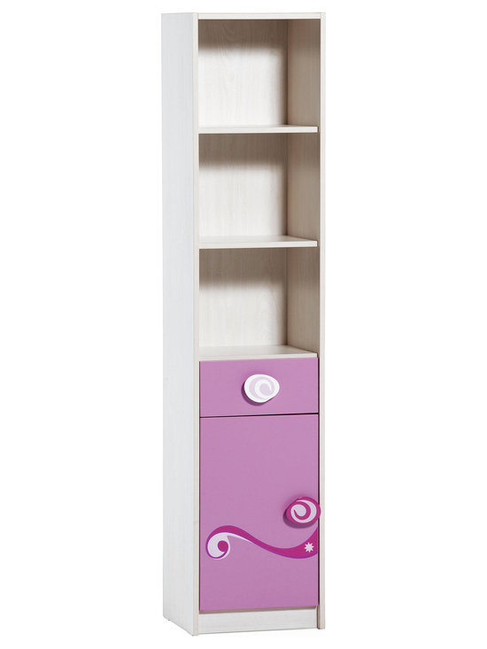 "Cilek - Princess Bookcase - Princess bookcase with suitable sizes is great for small rooms and has a very functional design with the cute drawer and door compartment. Princess bookcase is great addition to ""Pretty in Pink"" collection."