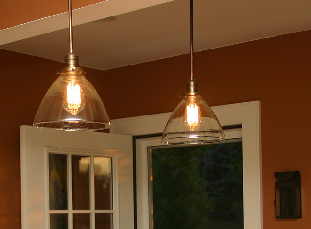 custom pendants with with blown glass shades and repro edison bulbs pendant lighting other. Black Bedroom Furniture Sets. Home Design Ideas