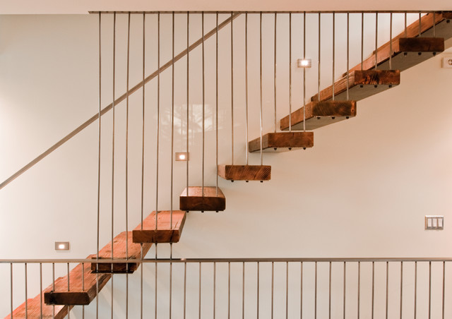Case Study House #1 modern-staircase
