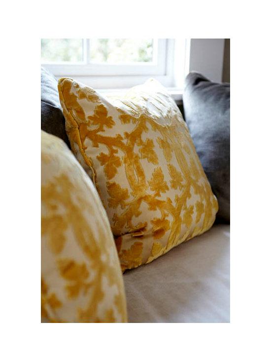 Yellow Velvet Pillows - Velvet Pillows
