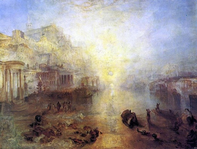 Joseph William Turner Ancient Italy - Ovid Banished from Rome  Print traditional-prints-and-posters