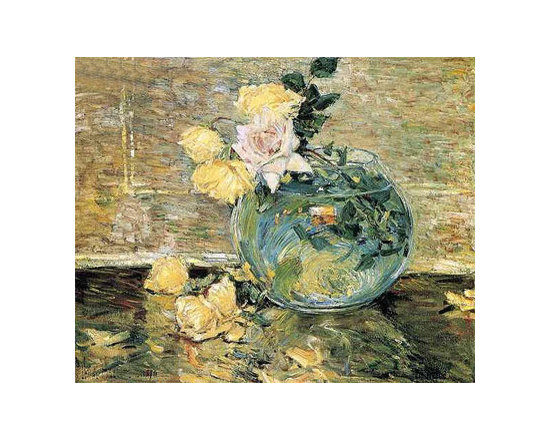 Roses in a Vase | Childe Hassam | Painting Reproduction -