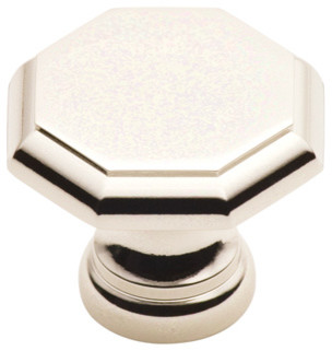 147-PN polished nickel octagonal cabinet knob traditional-cabinet-and-drawer-knobs