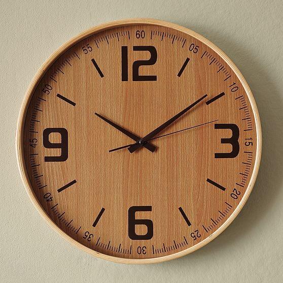 Wood Wall Clock Modern Wall Clocks By West Elm