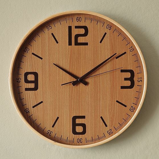 Wood Wall Clock Modern Wall Clocks By West Elm