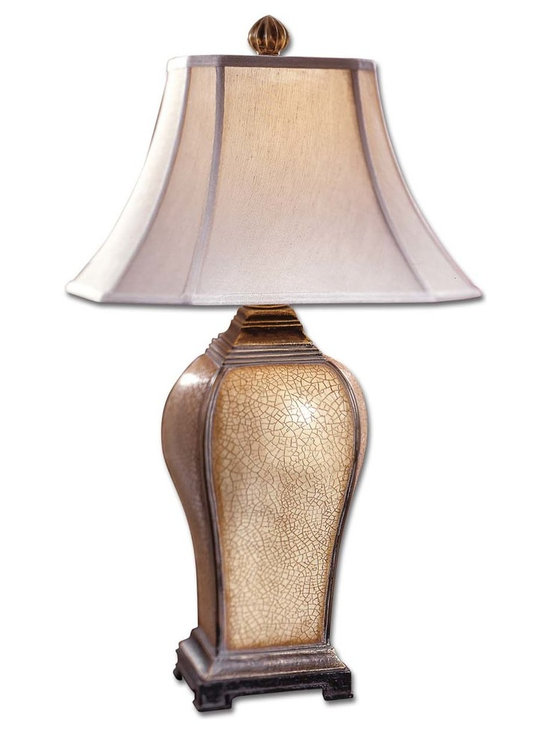 Uttermost - Baron Ivory Table Lamp - Hello Gorgeous! You won't want to hide this lamp in the bedroom. You will want it on display so you (and your friends) can admire the fine detailing on the base and appreciate the hand-sewn shade with the orb-shaped finial.