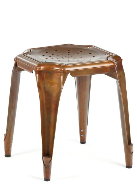 Cheval Stool Antique Copper Modern Bar Stools And