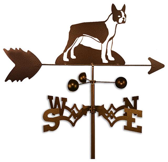 Handmade Boston Terrier Dog Copper Weathervane - Contemporary - Outdoor Decor - by Overstock.com