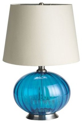 turquoise glass lamp contemporary table lamps by pier 1 imports. Black Bedroom Furniture Sets. Home Design Ideas