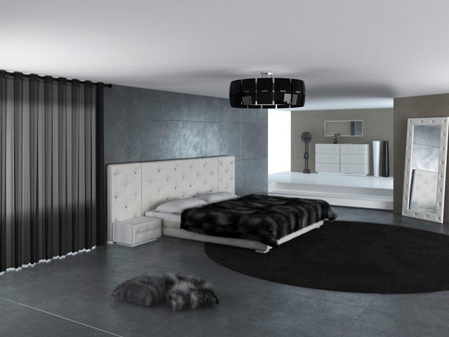 Low Profile Design Master Bedroom With Matching Set Pieces Modern Bedroom