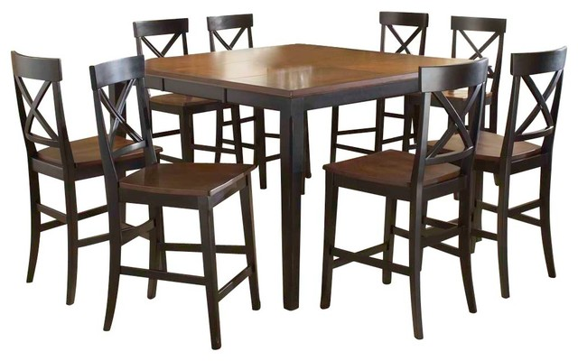 piece butterfly leaf counter height dining set traditional dining