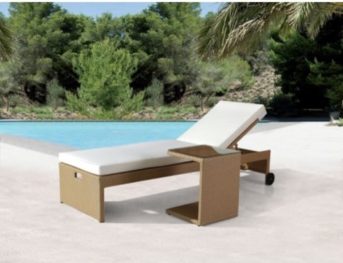 39 amber 39 recliner side table modern outdoor lounge for Outdoor furniture yatala