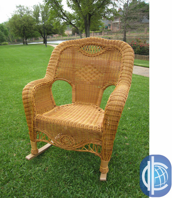 ... Caravan Resin Wicker Indoor/Outdoor Rocker contemporary-rocking-chairs