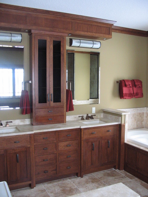 Credit river craftsman home craftsman bathroom for Craftsman bathroom design