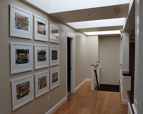 renovated attic space traditional-hall