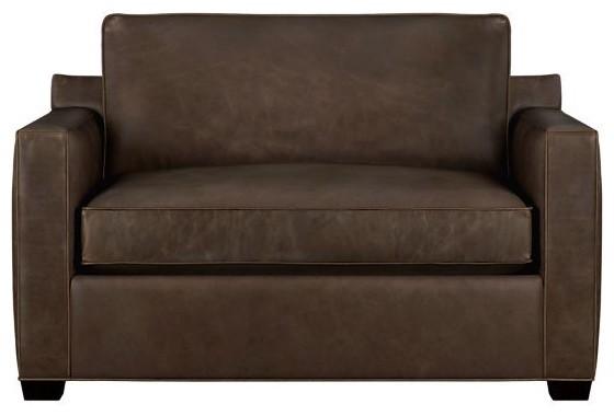 davis leather twin sleeper sofa modern sleeper sofas by crate barrel. Black Bedroom Furniture Sets. Home Design Ideas