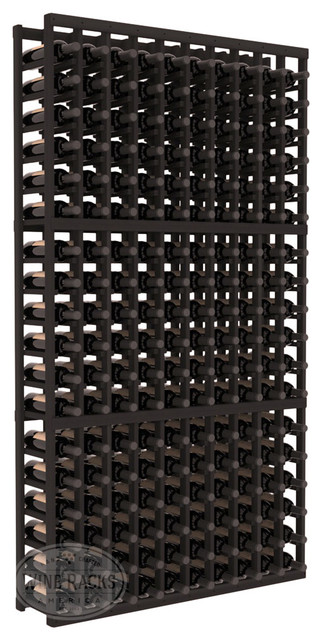 10 Column Standard Cellar Kit in Redwood with Black Stain traditional-wine-racks
