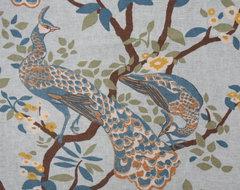 Robert Allen's Vintage Plumes Fabric in Jade upholstery-fabric