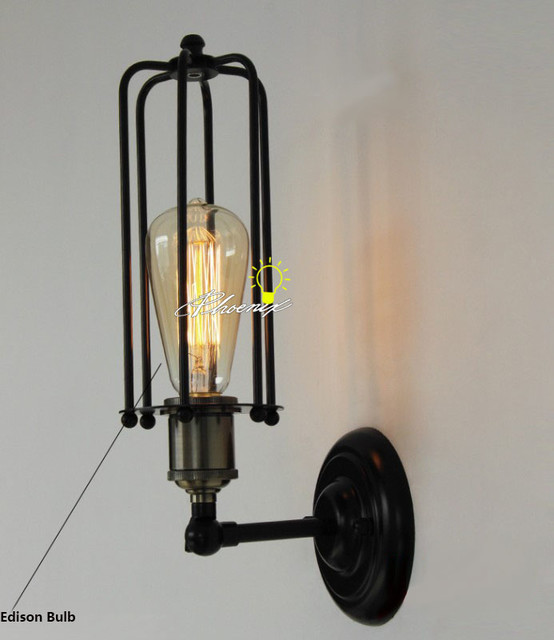 LOFT RH Antique Edison Heavy Metal Wall Sconce - Modern - new orleans - by PHX LIGHTING