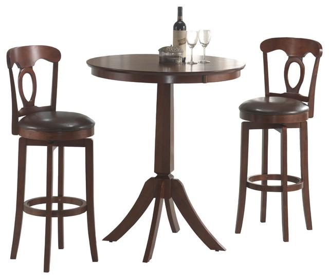 corsica brown 3 piece bistro set contemporary indoor pub and bistro sets by. Black Bedroom Furniture Sets. Home Design Ideas