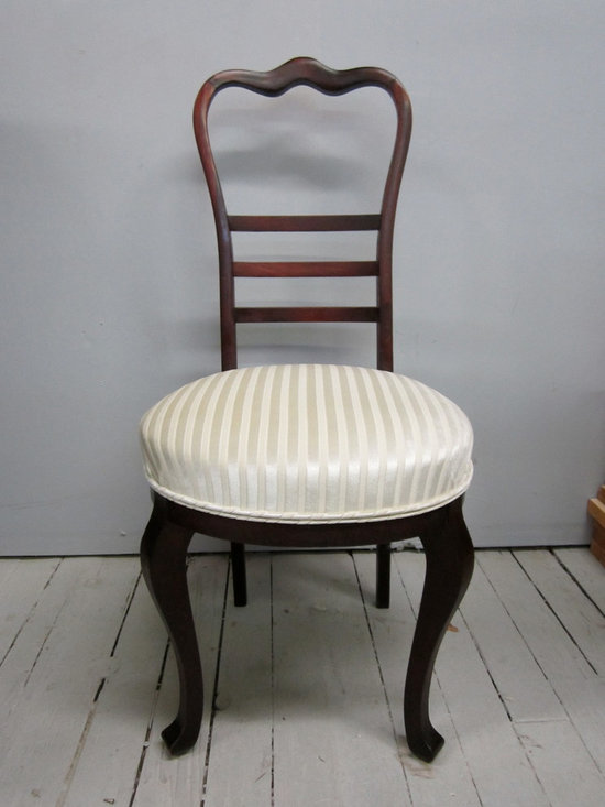 reupholstery & restoration: chair 1 - 'after' - this cute little chair is ready for another 100 years!