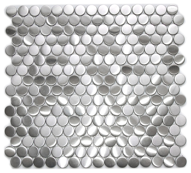 Metal Mosaic Tile For Bathroom Backsplahes contemporary-tile