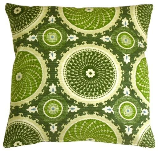 Pillow Decor - Bohemian Medallion Jade 20 x 20 Throw Pillow contemporary-decorative-pillows