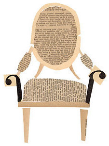 Louis Chair Collage by Denise Fiedler eclectic artwork