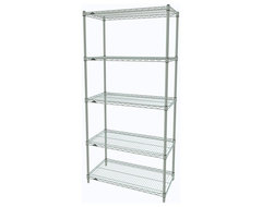 Metro Shelving Unit - 48x18x74 White industrial-garage-and-tool-storage