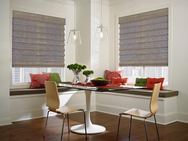 Woven Wood Shades tropical-roman-shades