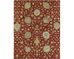 Kaleen Helena Aphrodite 8' x 10' Red Rug contemporary-rugs